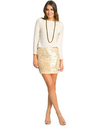 Gold mini skirt original 4178912