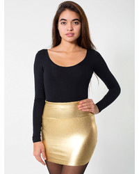 American apparel shiny late night mini skirt medium 112648