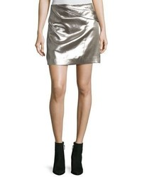 Heritage faux wrap draped metallic miniskirt medium 5277292