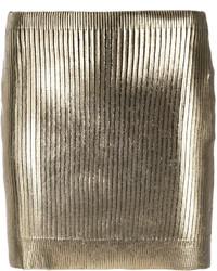 Metallic coated mini skirt medium 3668256
