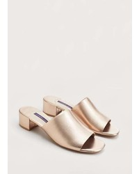 Violeta BY MANGO Metallic Mule