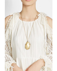 Alexis Bittar 10k Gold Necklace With Crystals