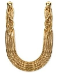 Anne Klein Gold Tone Five Row Collar Necklace