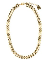 Anne Klein Gold Tone Thin Collar Necklace