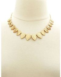 Charlotte Russe Aztec Etched Collar Necklace