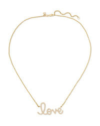 Sydney Evan Big Love 14 Karat Gold Diamond Necklace