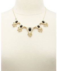 Charlotte Russe Black Gold Triangle Statet Necklace