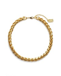 Karine Sultan Braided Link Collar Necklace