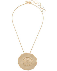 Balmain Branded Disc Necklace