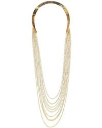 Boohoo Cherri Multi Chain Statet Collar Necklace