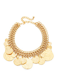 Coin chain choker necklace medium 953778