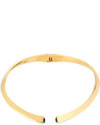 Diane von Furstenberg Crystal End Collar Necklace Goldblack
