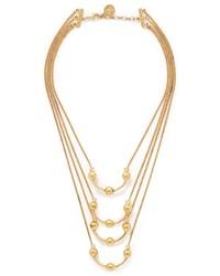 Ela Stone Clea Metal Bead Station Tier Necklace