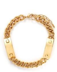 Ela Stone Heidi Metal Plate Curb Chain Necklace