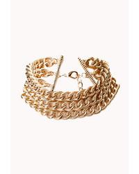 Forever 21 Elegant Textured Chain Choker