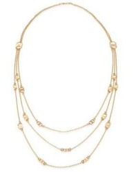 Tory Burch Gemini Link Multi Strand Necklace