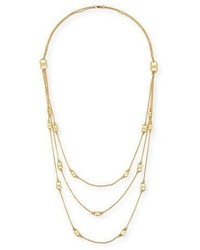 Tory Burch Gemini Multi Strand Link Necklace