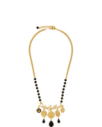 Dolce And Gabbana Gold Logo And Charms Necklace