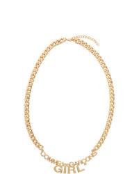 Comme Des Garçons Girl Gold Logo Necklace