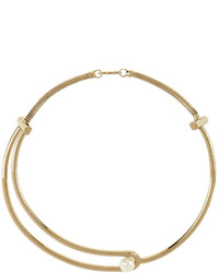 Jason Wu Gold Plated Pearly Collar Necklace
