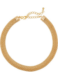 Kenneth Jay Lane Gold Plated Tube Choker