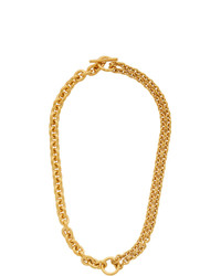 All Blues Gold Polished Double Necklace