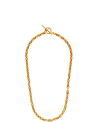 All Blues Gold Polished Pill Necklace