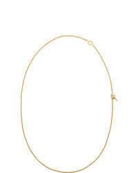 All Blues Gold Polished String Necklace