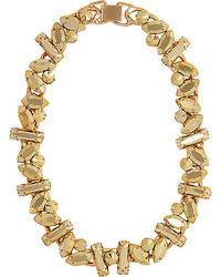 River Island Gold Tone Chunky Stone Necklace