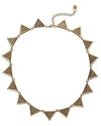 House Of Harlow Necklace Gold Tone Textured Triangle Collar Necklace