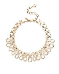 Oscar de la Renta Infinity Ribbon Collar Necklace