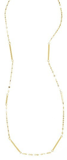 Lana Jewelry 14K Gold Short Bar Station Necklace bLyQT