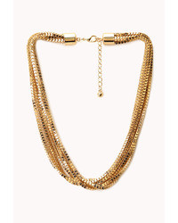 Forever 21 Layered Box Chain Necklace