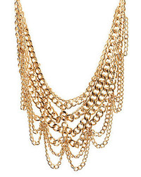 Charlotte Russe Layered Chain Statet Necklace