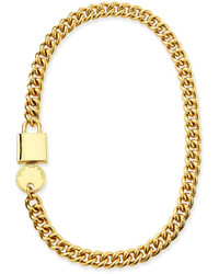 Marc by Marc Jacobs Lock In Golden Statet Necklace
