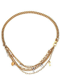 Marc by Marc Jacobs Looped Multi Chain Charm Necklace