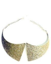 Lux Accessories Glitter Peter Pan Collar Necklace