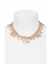 Marc by Marc Jacobs Standard Supply Id Plaque Collar Necklace Rose Gold