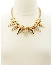 Charlotte Russe Metallic Spike Statet Necklace