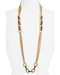 MICHAEL Michael Kors Michl Kors Modernist Glitz Long Multi Chain Necklace