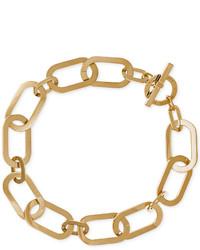 Michael Kors Michl Kors Gold Tone Large Link Collar Necklace