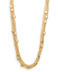Saks Fifth Avenue Multi Chain Disc Necklacegold