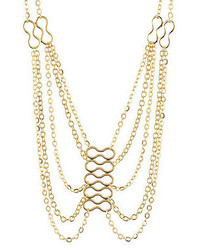 Charlotte Russe Multi Chain Harness Necklace