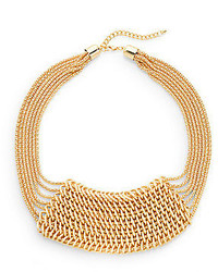 Jules Smith Designs Multi Strand Chain Bead Bib Necklace