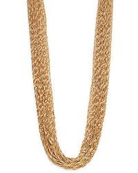 Natasha Multi Strand Twist Chain Necklace