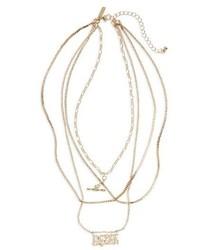 Topshop Never Explain Multistrand Necklace