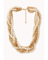 Forever 21 Opulent Faux Pearl Chain Choker