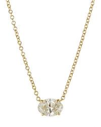 Ileana Makri Pear Cut Diamond Necklace In 18k Yellow Gold