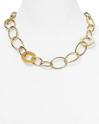 Ralph Lauren Lauren Shaded Links Collar Necklace 22