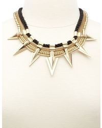 Charlotte Russe Rope Spike Collar Necklace
